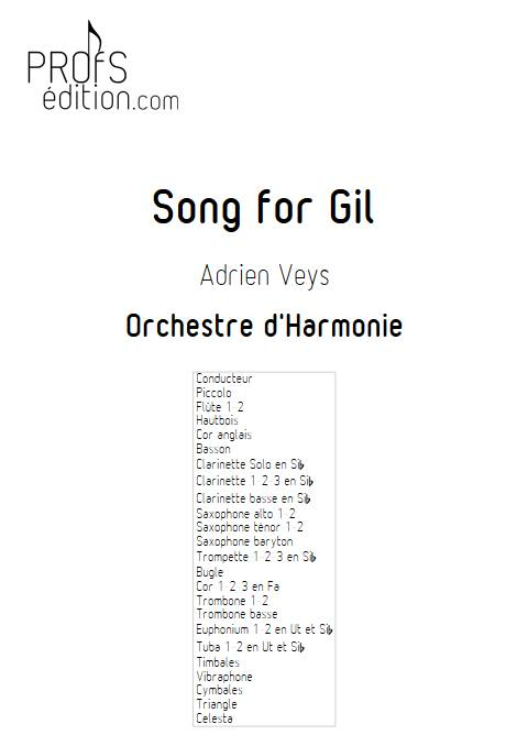 Song for Gil - Orchestre d'Harmonie - VEYS A. - front page