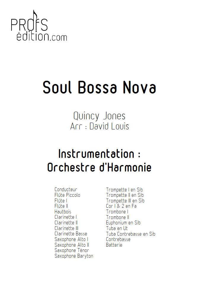 Soul Bossa Nova - Orchestre d'Harmonie - JONES Q. - front page