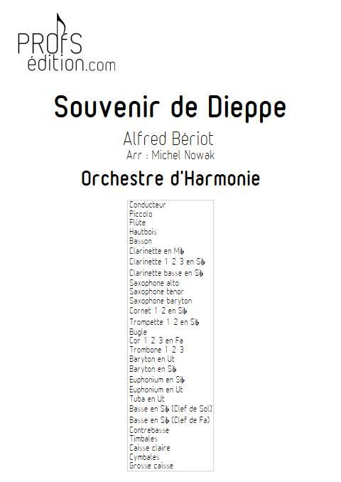 Souvenir de Dieppe - Orchestre d'Harmonie - BERIOT A. - front page