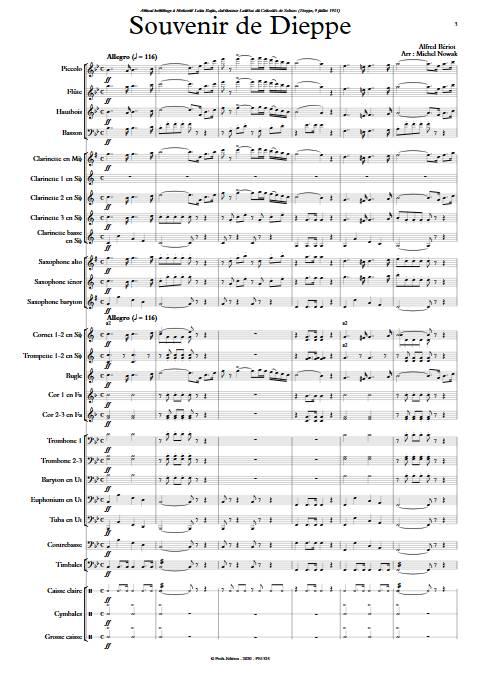 Souvenir de Dieppe - Orchestre d'Harmonie - BERIOT A. - app.scorescoreTitle