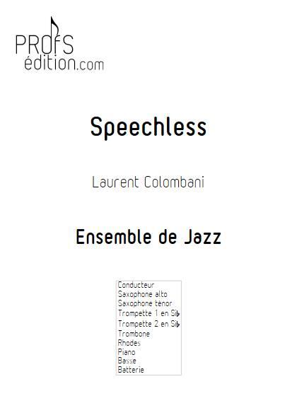 Speechless - Ensemble de Jazz - COLOMBANI L. - front page