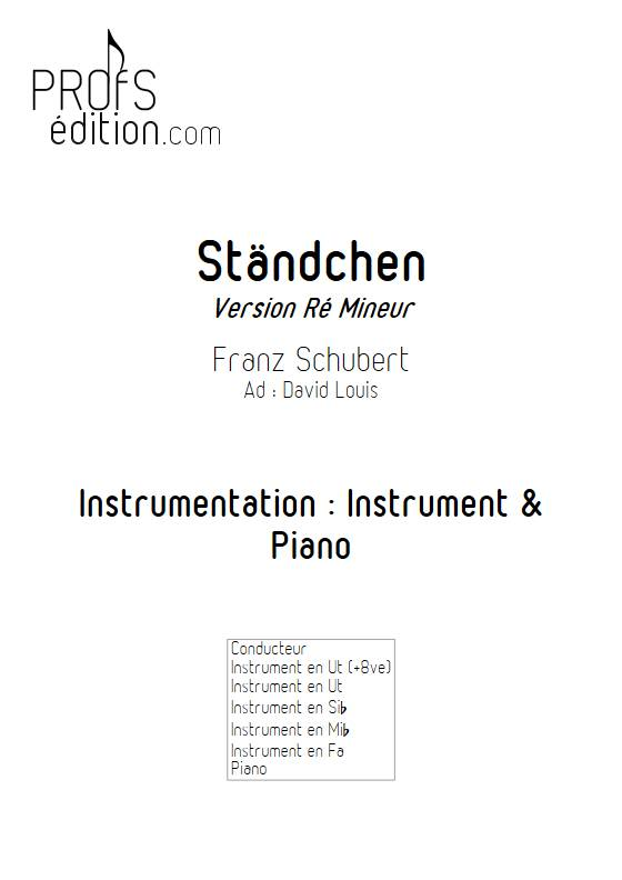 Ständchen - Piano/Instrument - SCHUBERT F. - front page