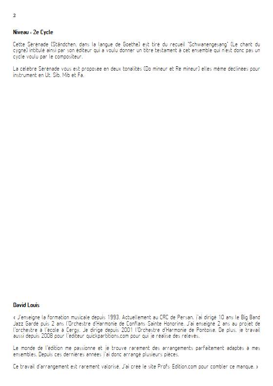 Ständchen - Piano/Instrument - SCHUBERT F. - Educationnal sheet