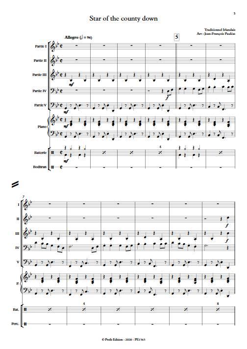 Star of the county down - Ensemble Variable - TRADITIONNEL IRLANDAIS - app.scorescoreTitle
