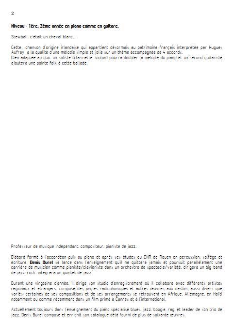 Stewball - Duo Guitare et Piano - AUFRAY H. BUREL Denis - Educationnal sheet