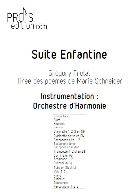 Suite Enfantine - Orchestre d'Harmonie & Chœur - FRELAT G. & SCHNEIDER M. - front page