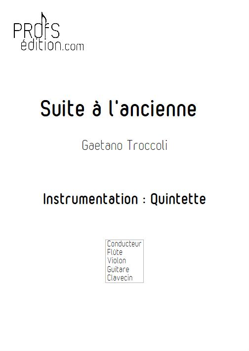 Suite à l'ancienne - Quatuor - TROCCOLI G. - front page