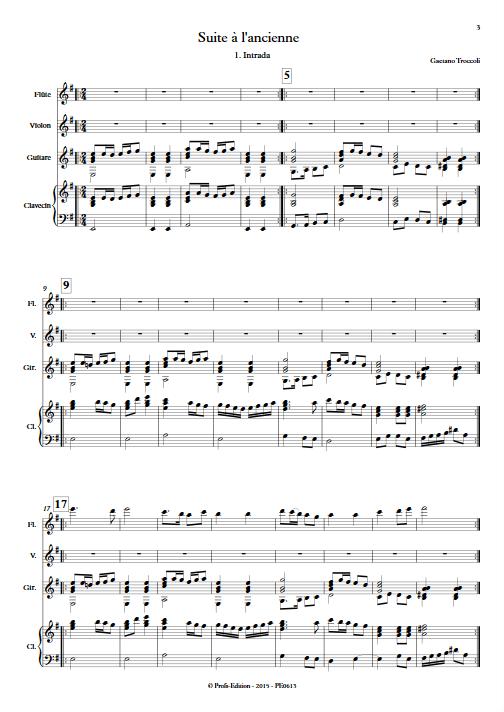 Suite à l'ancienne - Quatuor - TROCCOLI G. - app.scorescoreTitle