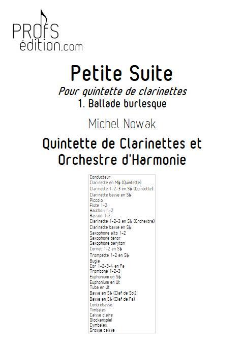 Petite Suite 1er Mouvement - Quinette de Clarintettes et Harmonie - NOWAK M. - front page