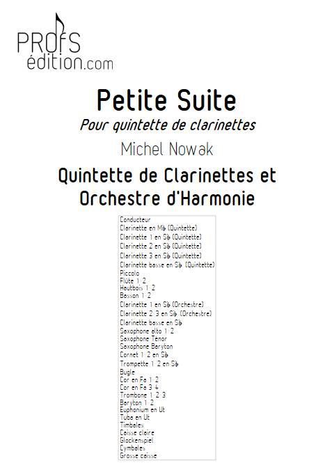 Petite Suite 2e Mouvement - Quintette de Clarintettes et Harmonie - NOWAK M. - front page