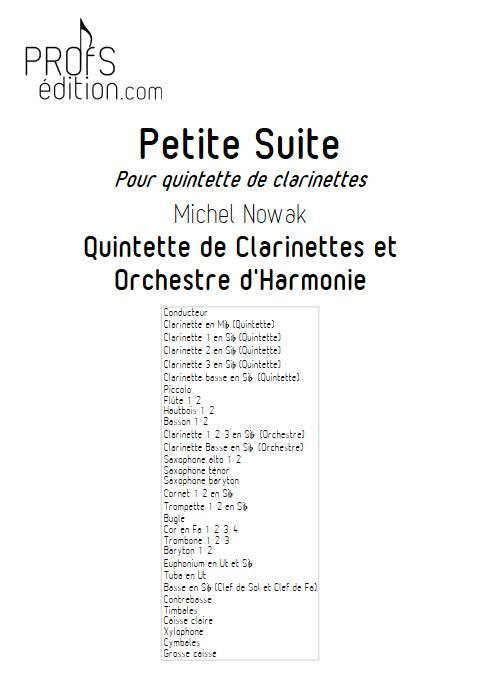 Suite pour Quintette de Clarinettes et Harmonie - 3e Mouvement - Quintette de Clarinettes & Harmonie - NOWAK M. - front page