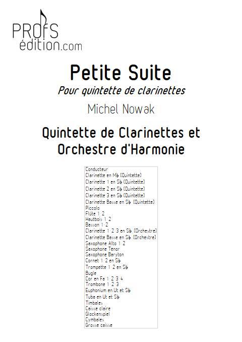Suite pour Quintette de Clarinettes et Harmonie - 4e Mouvement - Quintette de Clarinettes & Harmonie - NOWAK M. - front page