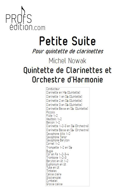 Suite pour Quintette de Clarinettes et Harmonie - 5e Mouvement - Quintette de Clarinettes & Harmonie - NOWAK M. - front page