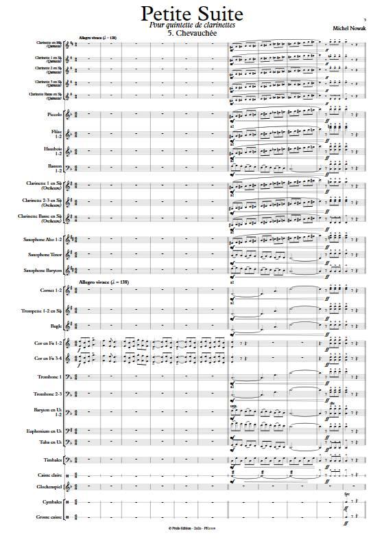 Suite pour Quintette de Clarinettes et Harmonie - 5e Mouvement - Quintette de Clarinettes & Harmonie - NOWAK M. - app.scorescoreTitle