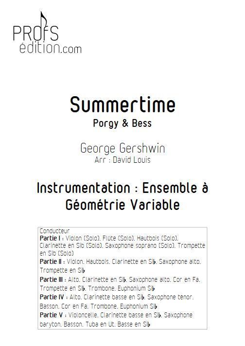Summertime - Ensemble à Géométrie Variable - GERSHWIN G. - front page