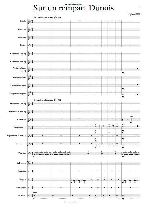 Sur un rempart Dunois - Orchestre d'harmonie - TALLE S. - app.scorescoreTitle