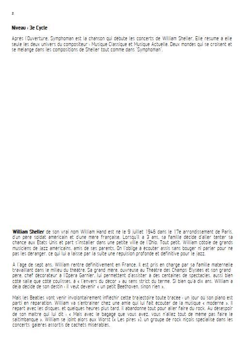 Symphoman - Chant et Quintette à Cordes - SHELLER W. - Educationnal sheet