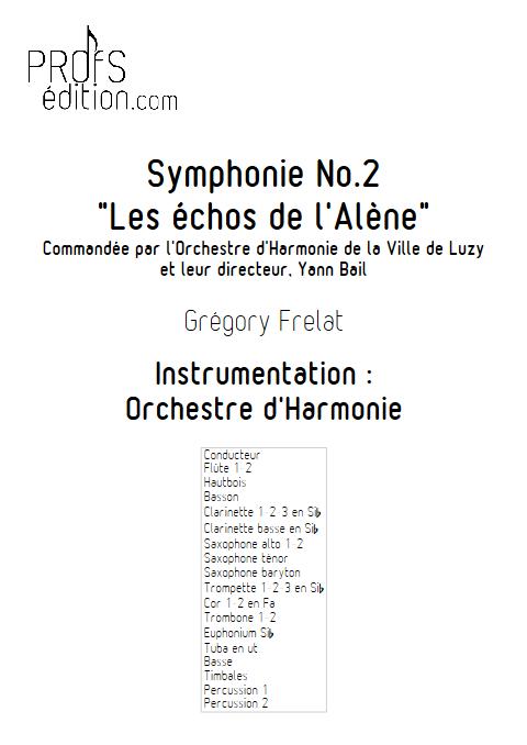 Symphonie n°2 (Les échos de l'Alène) - Orchestre d'Harmonie - FRELAT G. - front page