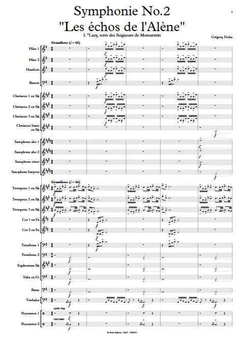 Symphonie n°2 (Les échos de l'Alène) - Orchestre d'Harmonie - FRELAT G. - app.scorescoreTitle