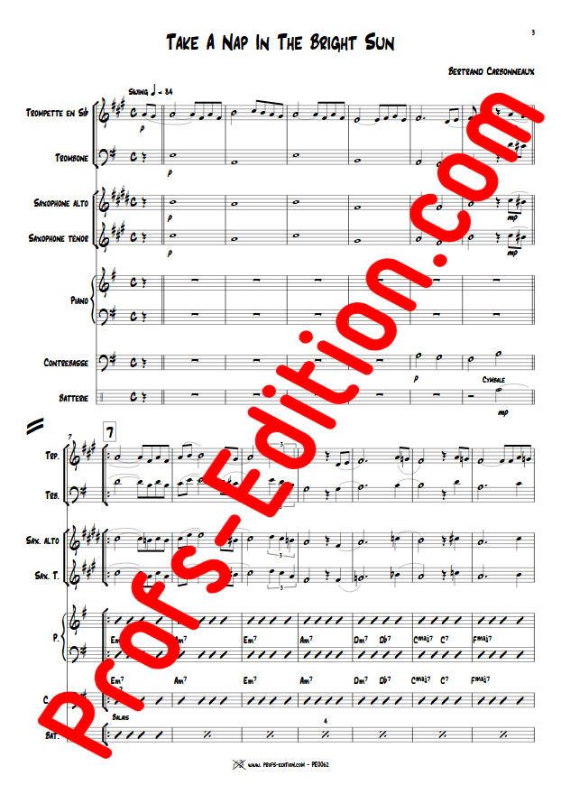 Take a Nap in The Bright Sun - Septet Jazz - CARBONNEAUX B. - app.scorescoreTitle