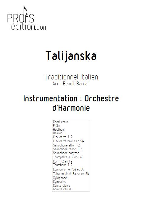 Talijanska - Orchestre d'Harmonie - TRADITIONEL ITALIEN - front page