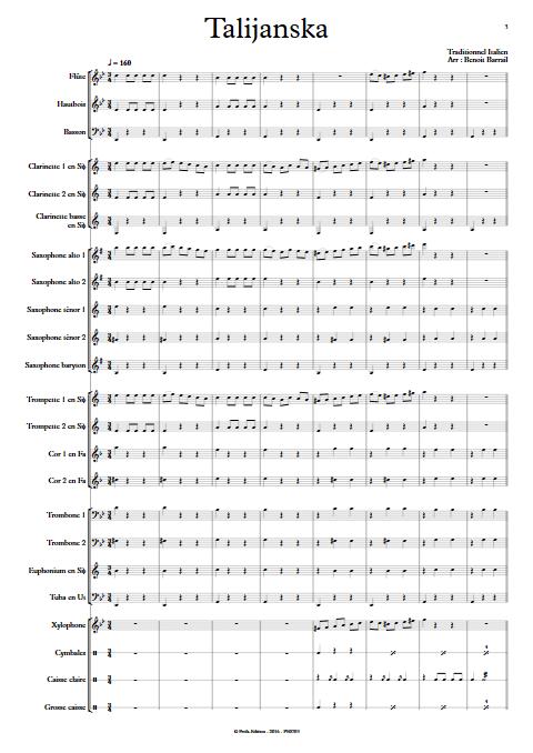 Talijanska - Orchestre d'Harmonie - TRADITIONEL ITALIEN - app.scorescoreTitle