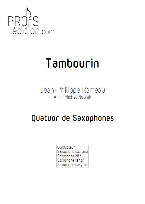 Tambourin - Ensemble variable - RAMEAU J. P. - front page