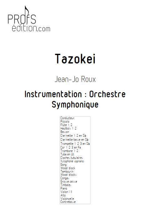 Tazokei - Orchestre Symphonique - ROUX Jean-Jo - front page