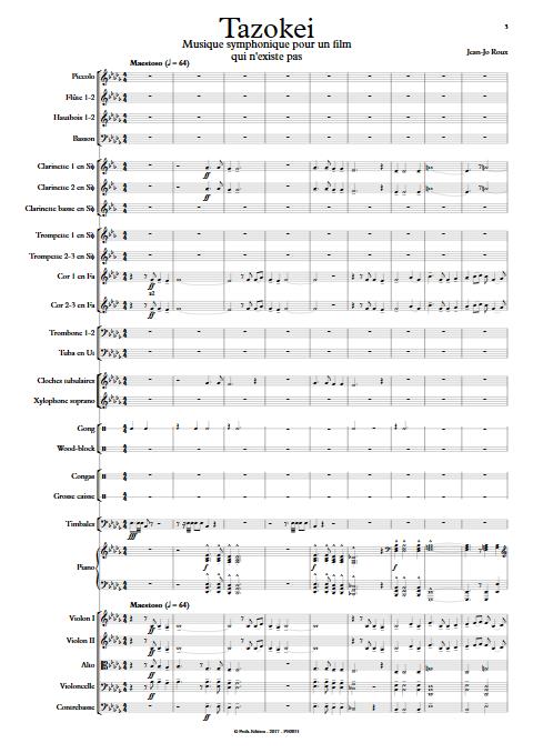 Tazokei - Orchestre Symphonique - ROUX Jean-Jo - app.scorescoreTitle