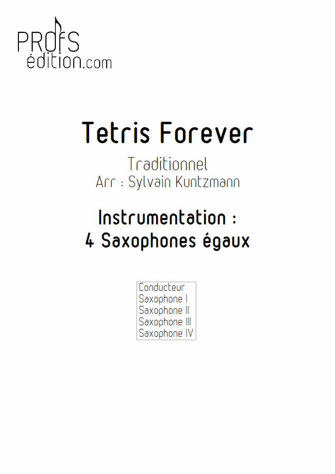 Tétris - 4 Saxophones égaux - TRADITIONNEL RUSSE - front page