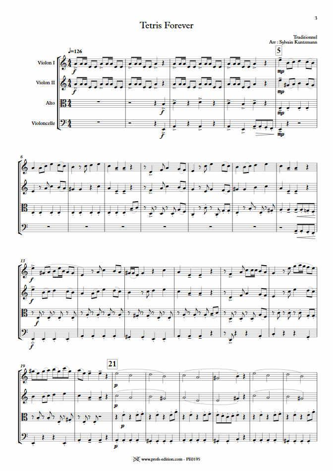 Tétris - Quatuor à Cordes - TRADITIONNEL RUSSE - app.scorescoreTitle