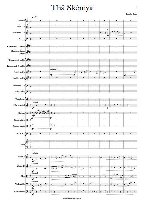 Thâ Skémya - Orchestre Symphonique - ROUX J.J. - app.scorescoreTitle