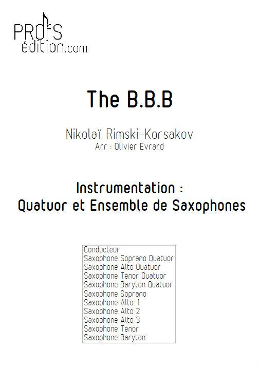 Bumble Bee Boogie (le vol du bourdon) - Quatuor et Ensemble de Saxophones - RIMSKY-KORSAKOV N. - front page