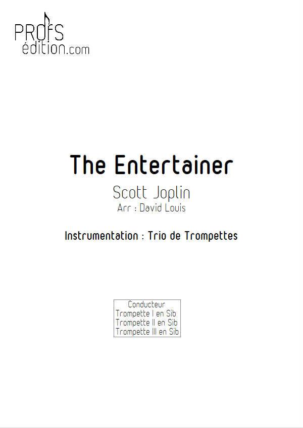 The Entertainer - Trio de Cuivres - JOPLIN S. - front page