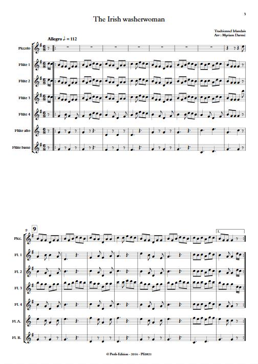 The Irish washerwoman - Ensemble de Flûtes - TRADITIONNEL IRLANDAIS - app.scorescoreTitle