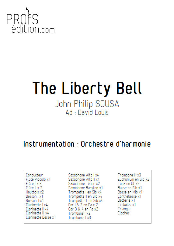 The Liberty Bell March - Orchestre harmonie - SOUSA J.P. - front page