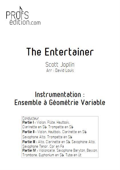 The Entertainer - Ensemble à Géométrie Variable - JOPLIN S. - front page