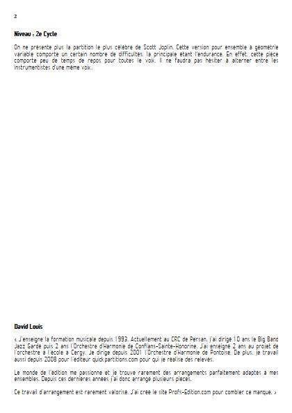 The Entertainer - Ensemble à Géométrie Variable - JOPLIN S. - Educationnal sheet