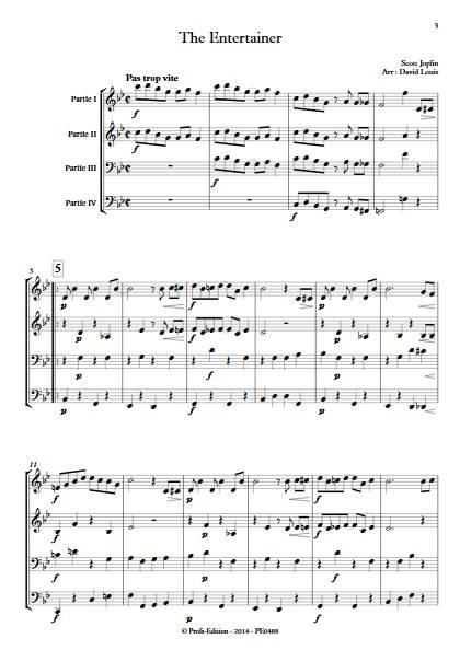 The Entertainer - Ensemble à Géométrie Variable - JOPLIN S. - app.scorescoreTitle