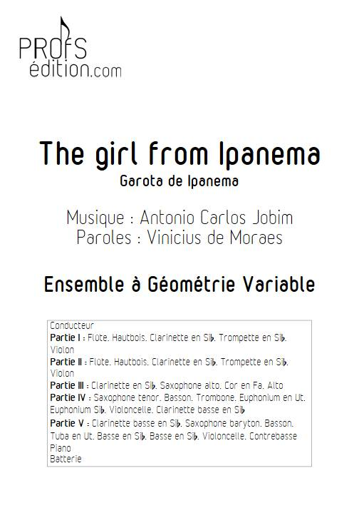 The girl from Ipanema - Ensemble Variable - JOBIM A. C. - front page