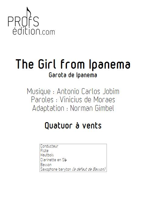 The girl from Ipanema - Quatuor à vents - JOBIM A. C. - front page