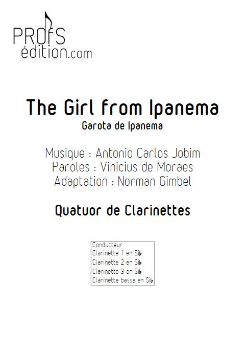 The girl from Ipanema - Quatuor de Clarinettes - JOBIM A. C. - front page