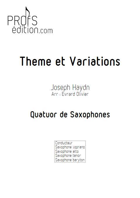 Theme et variation Haydn - Quatuor de Saxophones - HAYDN J. - front page