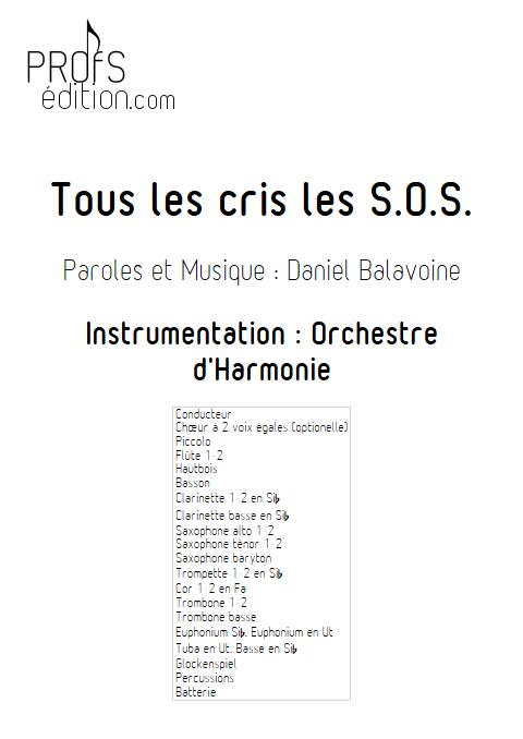 Tous les cris les SOS - Orchestre d'Harmonie - BALAVOINE D. - front page