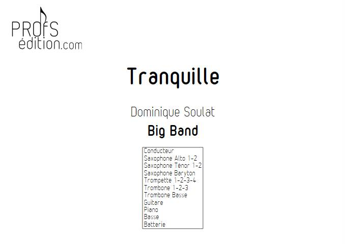 Tranquille - Big Band - SOULAT D. - front page