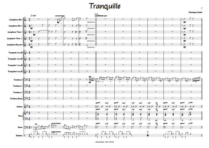 Tranquille - Big Band - SOULAT D. - app.scorescoreTitle