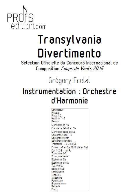 Transylvania Divertimento - Orchestre d'Harmonie - FRELAT G. - front page
