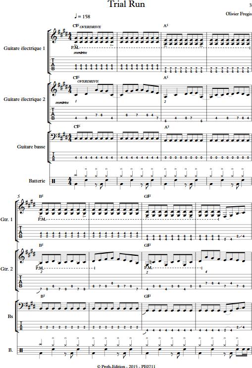 Trial Run - Ensemble de Musiques Actuelles - FREGIS O. - app.scorescoreTitle