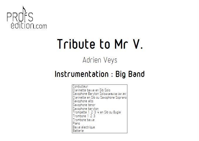Tribute to Mr V - Big Band - VEYS A. - front page