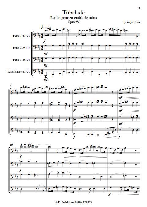 Tubalade - Quatuor de Tubas - ROUX J. J. - app.scorescoreTitle
